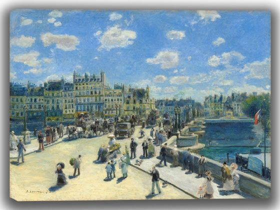 Renoir, Pierre Auguste: Pont Neuf, Paris. Fine Art Canvas. Sizes: A4/A3/A2/A1 (004082)